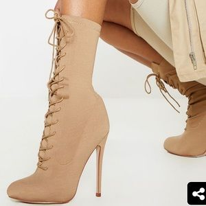 Sunny London lace up booties